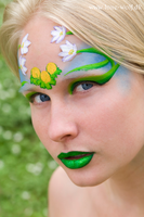 Spring facepaint by lone-wolf-dk