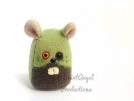 Mini Stuffed Zombie Hamster Plushie by Saint-Angel