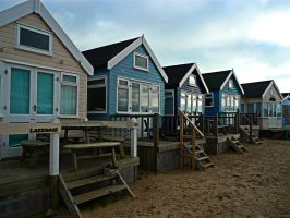 huts in a row by awjay