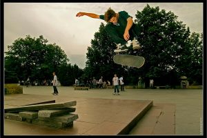 skateboard - double heelflip by koza01