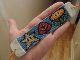 Super Mario Bros 3 items Bracelet #2 by kayanah