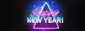 Happy New Year Retro Effect by ExtremeJuvenile