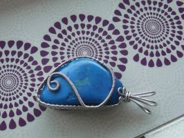 Double-sided howlite pendant by GoGo-T-W