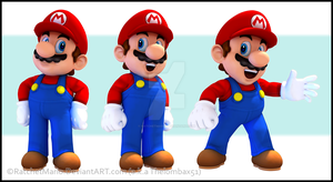 Marios 3D Renders by RatchetMario
