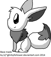 I Know I Can Eevee Base by gKirbyfollowersbases
