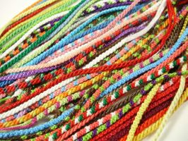 Bundle of Tiny Friendship Bracelets by QuietMischief