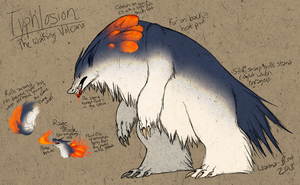Monster Hunter Styled Typhlosion by Fumi-LEX