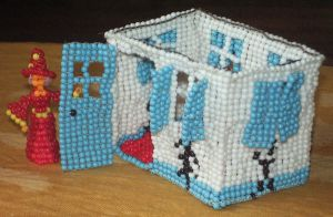 Beaded Malawian village house by Anabiyeni