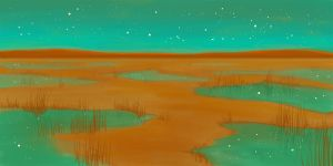 Desert Sky at Night by OLIVESELKIE