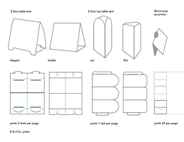 DeviantArt: More Like table tents template types by carrensoriano