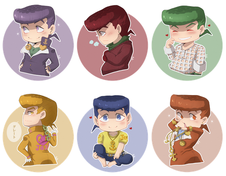 JJBA - Tiny Josukes by 7Repose