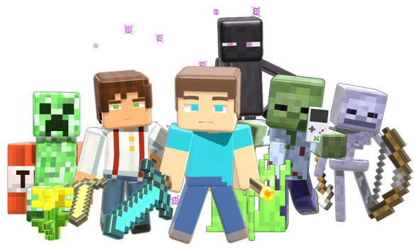 MMD Minecraft Smooth Steve 1.0 release DL by 495557939