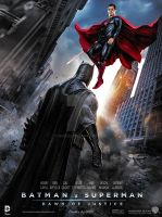 Batman v Superman : Dawn of Justice  Poster by GOXIII