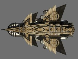 Flying Battleship Textured 03 by cmdesigna