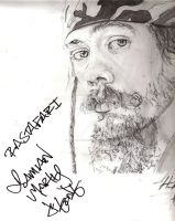 Signed by Mr Damian Marley by The-Art-Kid