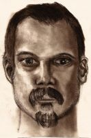 Self Portrait in Charcoal by grimdrifter