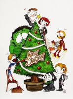The Avengers wish you a Merry Christmas!!! by HashtagGenius