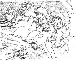 Inuyasha and Kagome by Ziven