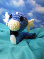 Bowtie Dratini amigurumi commission by Rainbowbubbles