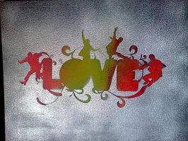 Love, the Beatles Stencil by REAPER6I6