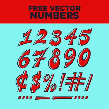Free Vector Numbers Set by pgizzle618