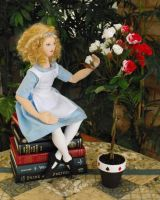Alice in Wonderland cloth doll by katelouise84