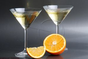 Martini and orange by EnricoZbogar