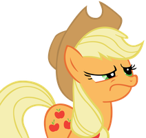 Applejack Smirk Vector by TardisBrony