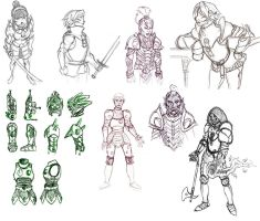 The Elder Sketches by Gilran