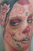 Day of the Dead Portrait by Gabe Alvarez by BrokenCloverTattoo