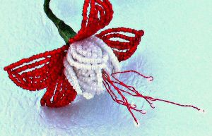 Red Beaded Fuchsia by Craftcove