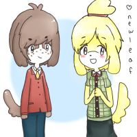 Animal crossing new leaf: digby and isabelle by poigo