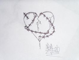Barbed Wire Heart by chrisMISFIT