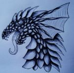 Dragon with scales II by LonlyAntelope