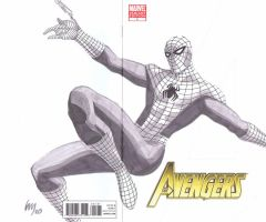 Avengers Spidey Sketch by wrathofkhan