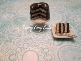 Miniature Chocolate Layer Cake by TeenyTinyEats