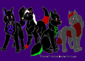 Wolfhome buddies and me lol by RoboDes