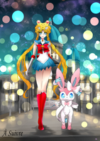 Day 183 - Nymphia | Sylveon and Sailor Moon by AutobotTesla