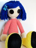 Coraline doll by KooKooCraft