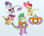 Com: Raptor Cutie Mark Crusaders and Matrix Spike by Atomic-Chinchilla
