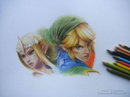 Hyrule Warriors Drawing WIP by Tokiiolicious