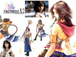 Final Fantasy X Yuna Collage by EternalLightEngine