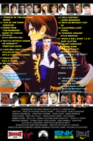 KOF Battle Dome Soundtrack List and Back Cover by BlueWolfRanger95