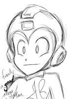 Rockman Sketch by FrancR