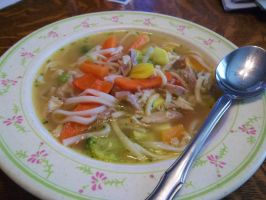 Chicken And Vegetable Noodle Soup by Pan-Zareta