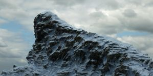 Sculpted cliff by Vejza