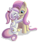 Sweet Streak and Fluttershy by Vetrina-271