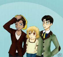 AT: 21, 22, and 23, Humanized by catgirl123