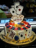 Las Vegas Birthday Cake by Erisana