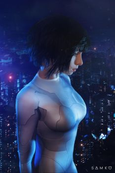 Major Motoko Kusanagi Cosplay by elenasamko